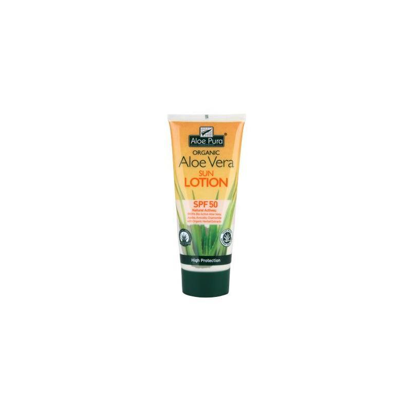 Aloe pura organic aloe vera zonnelotion SPF50
