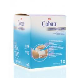 Coban zelfklevende zwachtel wit 4.5 m x 7.5 cm