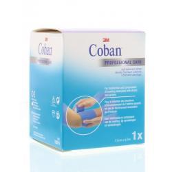 Coban zelfklevende zwachtel blauw 4.5 m x 7.5 cm