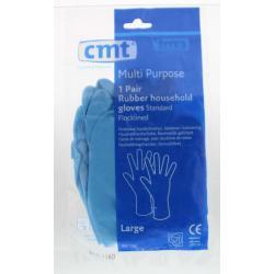 Huishoudhandschoen rubber blauw L