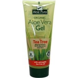 Aloe pura aloe vera gel organic tea tree