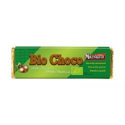 Bio choco melk hazelnoot zonder suiker