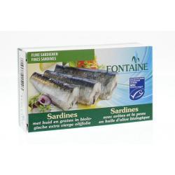 Sardines met huid en graat