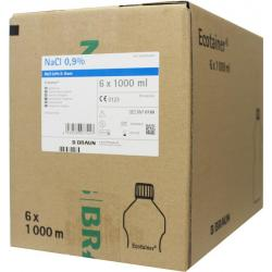 Spoelvloeistof nacl 0.9% ecotainer 1000 ml