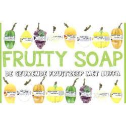 Folder Fruity soap informatie flyer A6