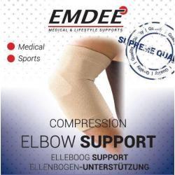 Elastische ondersteuning elleboog huidkleur maat L
