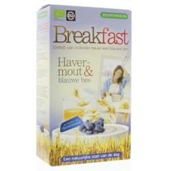 Breakfast havermout blauwe bes