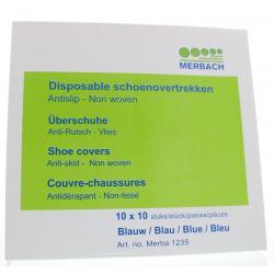 Schoenovertrek PP blauw 10 x 10