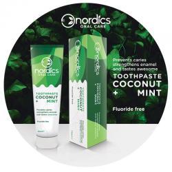 Natuurlijke tandpasta kokosnoot munt fluorvrij