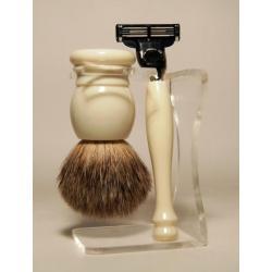 Luxe scheerset ivoor graudas