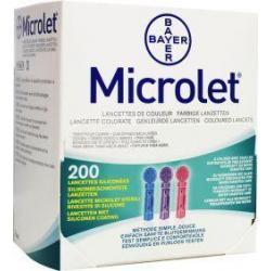 Microlet lancet gekleurd P6571
