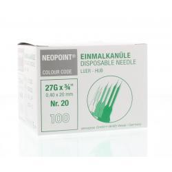 Injectienaald steriel 0.4 x 20
