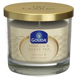 Gevuld geurglas ivoor/vanille/witte thee 90/100