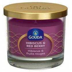 Gevuld glas purple hibiscus red berry 66/80
