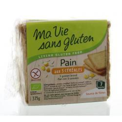 Brood 3 granen bio - glutenvrij
