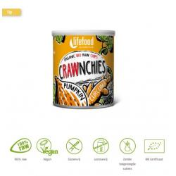 Crawnchies stapelchips pompoen kurkuma raw & bio