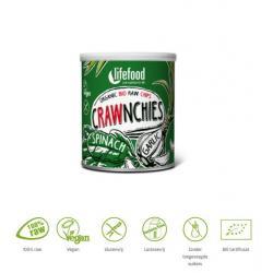 Crawnchies stapelchips spinazie knoflook raw & bio