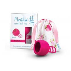 Menstruatie cup strawberry roze